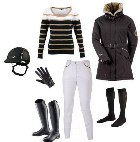 look équitation noir et beige