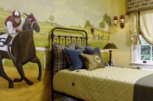equestrian horse bedroom