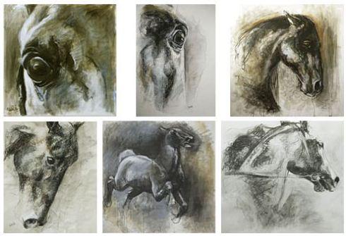 peinture equestre cheval bénédicte gelé
