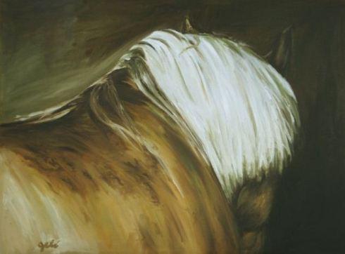 Bénedicte gelé art equestre peinture equitation