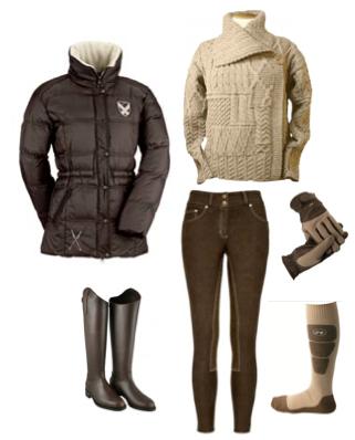 équitation marron