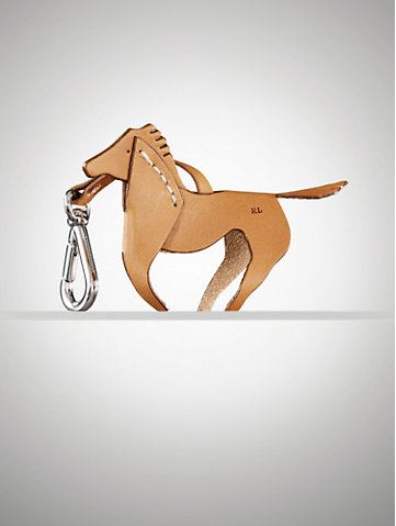 Vachetta Horse Key Ring - Ralph Lauren