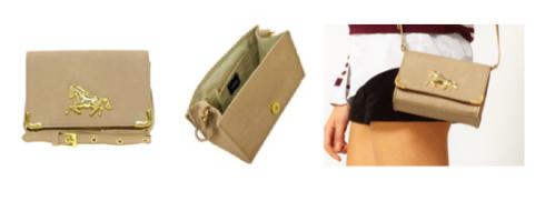 sac et porte-monnaie motif équestre, cheval, equitation, equestrian