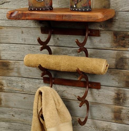 Porte serviette avec des fers à cheval